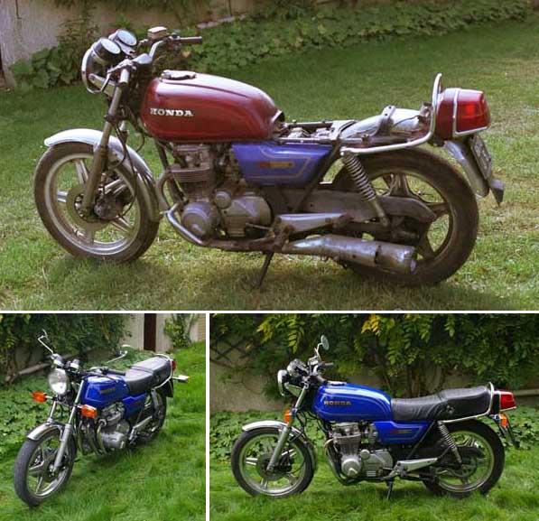 Honda Cb650 1979 avant / après